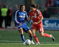 26 April 2009: Kansas City Wizards midfielder Santiago Hirsig #10 and Toronto FC forward Pablo Vitti #8 in action during an MLS game between Kansas City Wizards and Toronto FC.Toronto FC won 1-0. .