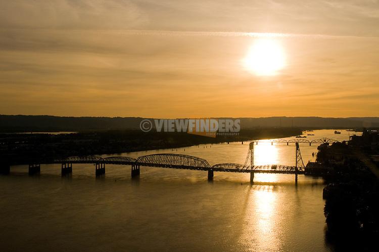 Aerial View of the I-5 Bridge, Vancouver, Washington