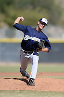 Milwaukee Brewers pitcher Josh Uhen (31) during an Instructional League game against the Los Angeles Angels on October 11, 2013 at Tempe Diablo Stadium Complex in Tempe, Arizona.  (Mike Janes/Four Seam Images)