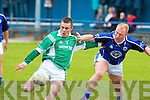 Kerins O'Rahilly's David Moran and Milltown/Castlemaine's Kieran McKenna.