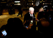 Former Speaker of the United States House of Representatives Newt Gingrich (Republican of Georgia) speaks to journalists following a meeting with US President-elect Donald Trump, in the Trump Tower, November 21, 2016, in New York, New York.<br /> Credit: Aude Guerrucci / Pool via CNP
