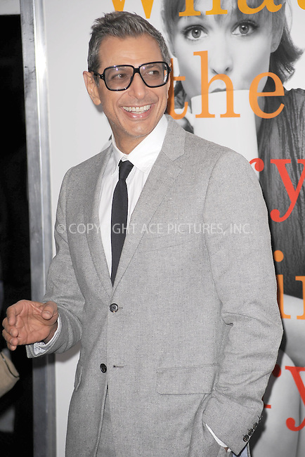 WWW.ACEPIXS.COM . . . . . .November 7, 2010...New York City....Jeff Goldblum attends the 'Morning Glory' world premiere at the Ziegfeld Theatre on November 7, 2010 in New York City.....Please byline: KRISTIN CALLAHAN - ACEPIXS.COM.. . . . . . ..Ace Pictures, Inc: ..tel: (212) 243 8787 or (646) 769 0430..e-mail: info@acepixs.com..web: http://www.acepixs.com .