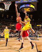 The University of Michigan men's basketball team beat N.C. State, 79-72, in the Big Ten/ACC Challenge at Crisler Center in Ann Arbor, Mich., on November 27, 2012.