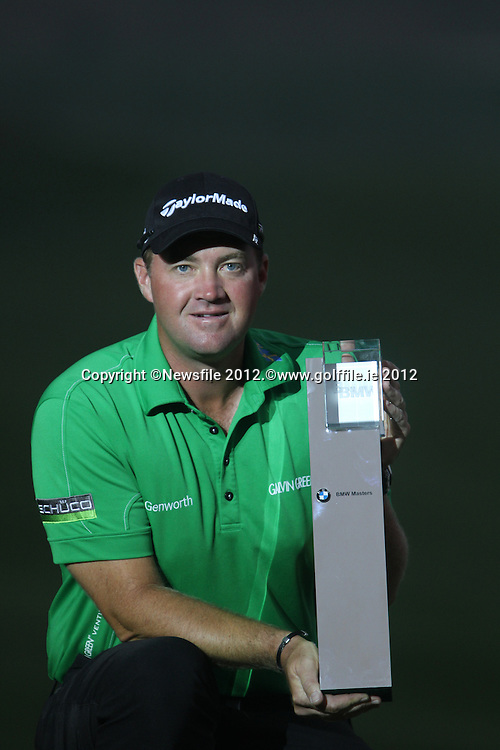 Peter Hanson (SWE) after winning on Day 4 of the BMW Masters 2012 at Lake Malaren Golf Club, Shanghai, China, Tuesday 28/10/12...(Photo www.golffile.ie)