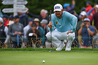 Louis Oosthuizen (RSA) lines up his putt on 3 during round 4 of the 2019 US Open, Pebble Beach Golf Links, Monterrey, California, USA. 6/16/2019.<br /> Picture: Golffile | Ken Murray<br /> <br /> All photo usage must carry mandatory copyright credit (© Golffile | Ken Murray)