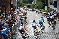 local laps: Peloton passing through the centre of Heist-op-den-Berg <br /> Heistse Pijl 2019<br /> One Day Race: Turnhout > Heist-op-den-Berg 194km (UCI 1.1)<br /> ©kramon