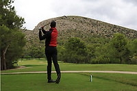 Sebastian Heisele (GER) on the 8th tee during Round 4 of the Challenge Tour Grand Final 2019 at Club de Golf Alcanada, Port d'Alcúdia, Mallorca, Spain on Sunday 10th November 2019.<br /> Picture:  Thos Caffrey / Golffile<br /> <br /> All photo usage must carry mandatory copyright credit (© Golffile | Thos Caffrey)