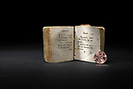 A miniature Bible was written by J. Taylor in 1794. The book is being lovingly restored by staff at Preservation Services in the University of Washington Libraries. Photo by Daniel Berman for UW Columns