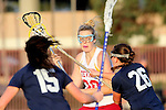 Santa Barbara, CA 02/18/12 - Andie Martin (Arizona State #30) and Elizabeth Calderwood (BYU #26) in action during the Arizona State vs BYU matchup at the 2012 Santa Barbara Shootout.  BYU defeated Arizona State 10-8.