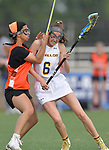 Minooka's Victoria Cook (left) collides with OFallon's Riley Maher. O'Fallon played Minooka in a quarterfinal game of the O'Fallon sectional at O'Fallon Sports Park on Monday May 20, 2019. <br /> Tim Vizer/Special to STLhighschoolsports.com