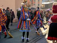 Kehrer beim Aufzug der Masken beim Nassereither Schellerlauf, Fasnacht in Nassereith, Bezirk Imst, Tirol, &Ouml;sterreich, Europa, immaterielles UNESCO Weltkulturerbe<br /> Kehrer, gathering of the masks, Nassereither Schellerlauf-Fasnacht, Nassereith, Tyrol, Austria Europe, Intangible World Heritage
