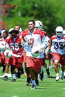 May 19, 2009; Tempe, AZ, USA; Arizona Cardinals quarterback (7) Matt Leinart during organized team activities at the Cardinals practice facility. Mandatory Credit: Mark J. Rebilas-