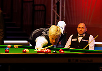 25th February 2020; Waterfront, Southport, Merseyside, England; World Snooker Championship, Coral Players Championship; Neil Robertson (AUS) at the table during his first round match against Joe Perry (ENG)