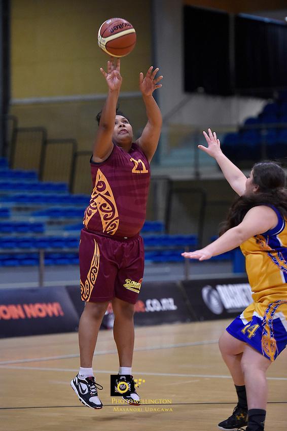 Pamela Purdie in action during the WBC - Tauranga City Coasters v Rotorua Lady Vols at Te Rauparaha Arena, Porirua, New Zealand on Friday 5 June 2015.<br /> Photo by Masanori Udagawa. <br /> www.photowellington.photoshelter.com.