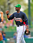 17 March 2009: Atlanta Braves' outfielder Jason Heyward celebrates the victory of a Spring Training game against the New York Mets at Disney's Wide World of Sports in Orlando, Florida. The Braves defeated the Mets 5-1 in the Saint Patrick's Day Grapefruit League matchup. Mandatory Photo Credit: Ed Wolfstein Photo