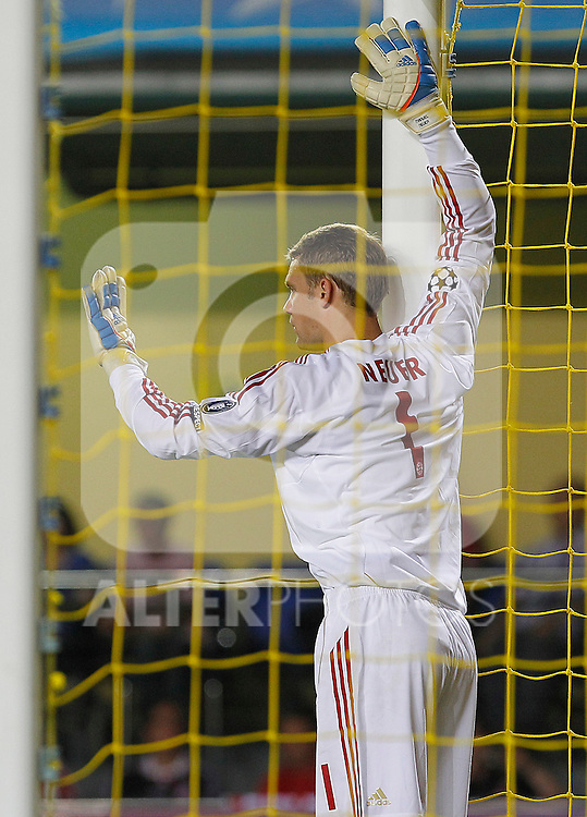 FC Bayern Munchen's Manuel Neuer during UEFA Champions League match.September 14,2011.(ALTERPHOTOS/Acero)