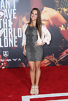 LOS ANGELES, CA - NOVEMBER 13: Maria Elisa Camargo, at the Justice League film Premiere on November 13, 2017 at the Dolby Theatre in Los Angeles, California. Credit: Faye Sadou/MediaPunch