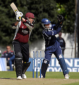 Scottish Saltires V Somerset Sabres, Friends Provident Trophy, Grange CC, Edinburgh - Sabres Marcus Trescothick makes his last contribution to the match as a batsman - he was out, caught Berrington off Stander, for 18 - Picture by Donald MacLeod - 20 May 2009