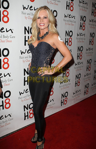 Tamra Barney.NOH8 Celebrity Studded 4th Anniversary Held At Avalon Dome, Hollywood, California, USA, .13th December 2012..full length corset hand on hip leggings  lace black strapless .CAP/ADM/KB.©Kevan Brooks/AdMedia/Capital Pictures.