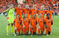 20170724 - TILBURG , NETHERLANDS : Dutch team pictured during the female soccer game between Belgium and The Netherlands  , the thirth game in group A at the Women's Euro 2017 , European Championship in The Netherlands 2017 , Monday 24 th June 2017 at Stadion Koning Willem II  in Tilburg , The Netherlands PHOTO SPORTPIX.BE | DIRK VUYLSTEKE