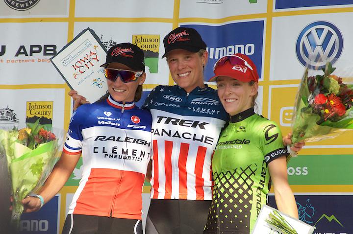 Women's podium <br /> Caroline Mani, Katie Compton, Kaitlin Antonneau