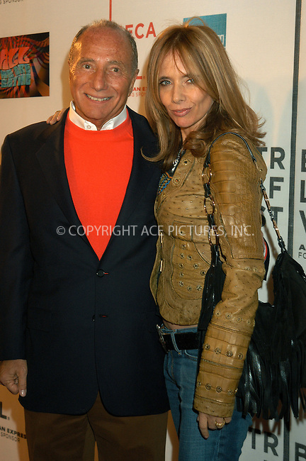WWW.ACEPIXS.COM . . . . . ....NEW YORK, APRIL 22, 2005....Freddy DeMann and Rosanna Arquette at the 'All We Are Saying' premiere held at the Tribeca Performing Arts Center as a part of Tribeca Film Festival.....Please byline: KRISTIN CALLAHAN - ACE PICTURES.. . . . . . ..Ace Pictures, Inc:  ..Craig Ashby (212) 243-8787..e-mail: picturedesk@acepixs.com..web: http://www.acepixs.com