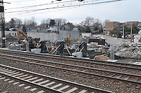 Construction Progress Railroad Station Fairfield Metro Center - Site visit 8 of once per month Chronological Documentation.