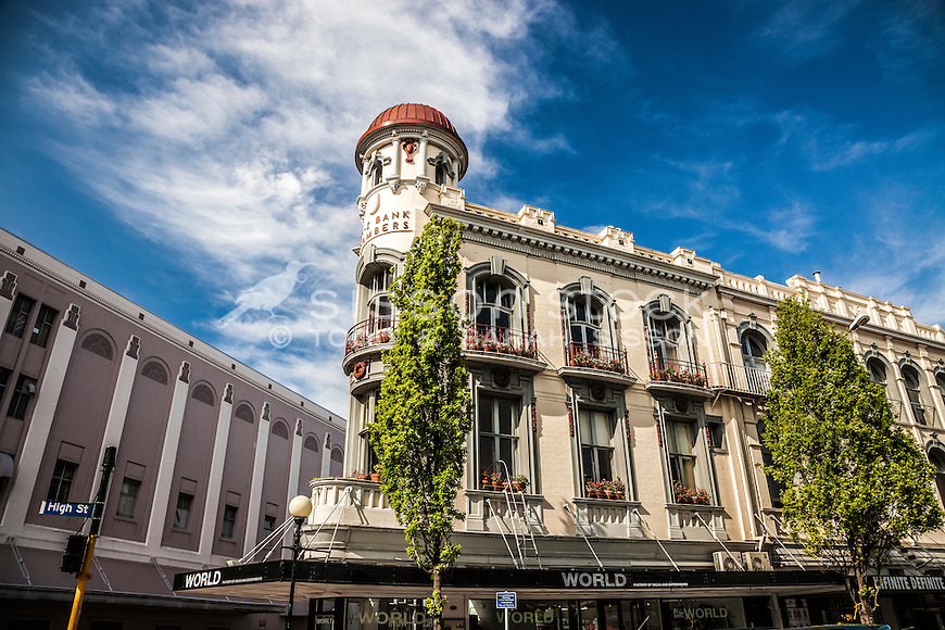 A Christchurch landmark building, The ANZ Chambers (destroyed in the Christchurch earthquakes), New Zealand - stock photo, canvas, fine art print