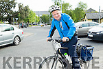 David Lenihan who works in Kerry County Council cycling to work from Fenit.