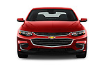 Car photography straight front view of a 2018 Chevrolet Malibu Premier 4 Door Sedan