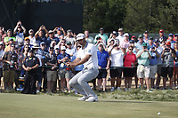 Dustin Johnson (USA) reacts to missing a putt on the 12th hole during the 118th U.S. Open Championship at Shinnecock Hills Golf Club in Southampton, NY, USA. 17th June 2018.<br /> Picture: Golffile | Brian Spurlock<br /> <br /> <br /> All photo usage must carry mandatory copyright credit (&copy; Golffile | Brian Spurlock)
