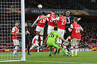 Arsenal's Granit Xhaka heads the ball out of defence during Arsenal vs Eintracht Frankfurt, UEFA Europa League Football at the Emirates Stadium on 28th November 2019