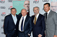 "LOS ANGELES, USA. November 17, 2019: Ted Sarandos, Sir Anthony Hopkins, Jonathan Pryce & Scott Stuber at the gala screening for ""The Two Popes"" as part of the AFI Fest 2019 at the TCL Chinese Theatre.<br /> Picture: Paul Smith/Featureflash"