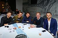 Pictured: (L-R) Federico Fernandez, Roque Mesa, Angel Rangel, Gerhard Tremmel and Lukasz Fabianski of Swansea City <br /> Re: Swansea City FC Christmas party at the Liberty Stadium, Wales, UK. Thursday 14 December 2017
