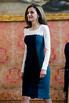 Queen Letizia of Spain attends the official lunch for 'Miguel de Cervantes 2016' Literature award at the Royal Palace. April 19 ,2017. (ALTERPHOTOS/Pool)