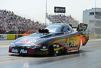 Sept. 22, 2012; Ennis, TX, USA: NHRA funny car driver Blake Alexander during qualifying for the Fall Nationals at the Texas Motorplex. Mandatory Credit: Mark J. Rebilas-US PRESSWIRE