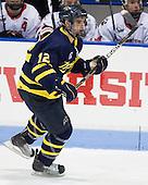 Brandon Brodhag (Merrimack - 12) - The visiting Merrimack College Warriors defeated the Northeastern University Huskies 4-3 (OT) on Friday, February 4, 2011, at Matthews Arena in Boston, Massachusetts.