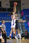Texas Arlington Mavericks forward Rosalyn Thorpe (35) and Idaho Vandals forward Ali Forde (13) in action during the game between the Idaho Vandals and the Texas Arlington Mavericks at the College Park Center arena in Arlington, Texas. Arlington defeats Idaho 60 to 58....