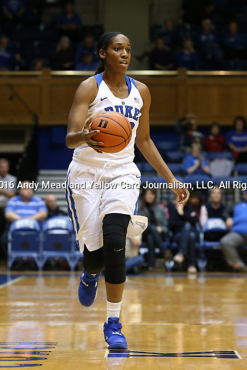 07 January 2016: Duke's Amber Henson. The Duke University Blue Devils hosted the Wake Forest University Demon Deacons at Cameron Indoor Stadium in Durham, North Carolina in a 2015-16 NCAA Division I Women's Basketball game. Duke won the game 95-68.