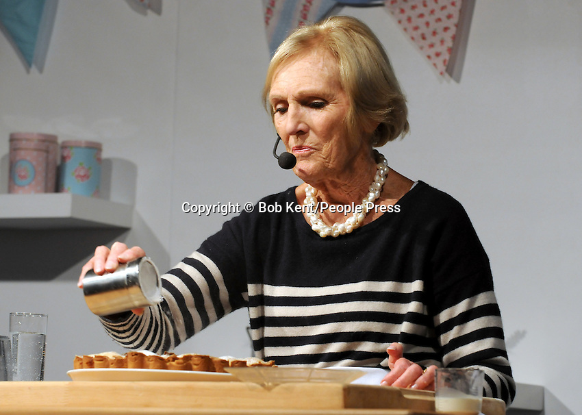 London - Celebrity Chef Mary Berry at the Cake International Show, Excel, London - April 12th 2013..Photo by Bob Kent