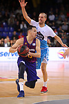 League ACB-ENDESA 2018/2019. Game: 14.<br /> FC Barcelona Lassa vs Monbus Obradoiro: 79-73.<br /> Thomas Heurtel vs Albert Sabat.
