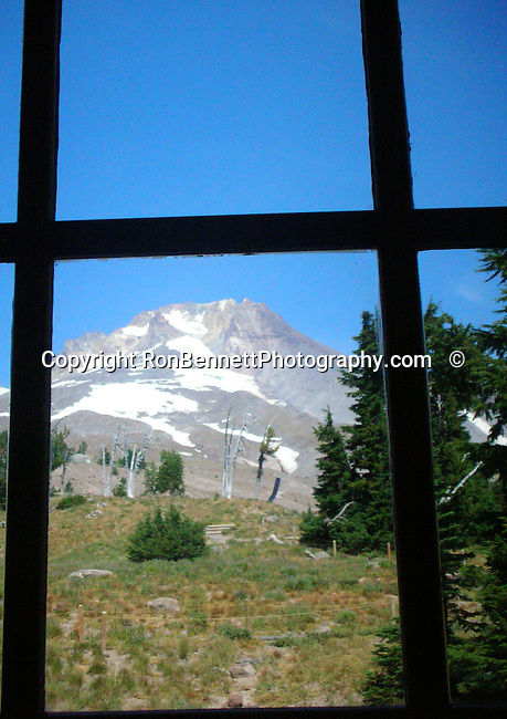 Mount Hood Cascade Volcanic Arc of Northern Oregon, Mount Hood from window, window, Volcanic Mountain, cascade range, glaciers, Timberline Lodge, Palmer Glacier, Mount Hood Meadows, Mount Hood National Forest, wilderness areas, Oregon Territory 1848, Salem, February 14 1859, Willamette River, Willamette valley, Portland, Cascade Mountain Range, dense evergreen forest, high desert, Douglas firs, redwoods, prairies, meadows, deserts, scrublands, central Oregon, Mount Hood, Crate Lake, Haystack Rock, Malheur Butte, Lewis and Clark expedition, Fort Clatsop, Native American, the Bannock, Chasta, Chinook, Kalapuya, Klamath, Molalla, Nez Pece, Takelma, Umpqua, Fine art Photography and Stock Photography by Ronald T. Bennett Photography ©, Fine Art Photography by Ron Bennett, Fine Art, Fine Art photography, Art Photography, Copyright RonBennettPhotography.com © Fine Art Photography by Ron Bennett, Fine Art, Fine Art photography, Art Photography, Copyright RonBennettPhotography.com ©