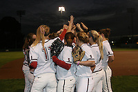 9 January 2008: (not in order) Maddy Coon, Melisa Koutz, Alissa Haber, Ashley Chinn, Missy Penna, Becky McCullough, Autumn Albers, Rosey Neill, Michelle Smith, Erikka Moreno, Erin Howe, Tricia Aggabao, Brittany Minder, Michelle Schroeder, Shannon Koplitz, and Anna Beardman during picture day at the Boyd and Jill Smith Stadium in Stanford, CA.