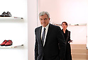 April 19, 2017, Tokyo, Japan - French fashion giant Dior CEO Sidney Toledano inspects his new shop at the Ginza Six in Tokyo on Wednesday, April 19, 2017. Tokyo's new landmark Ginza Six will open on April 20 where Dior will have its flagship store.     (Photo by Yoshio Tsunoda/AFLO) LwX -ytd-