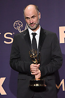 LOS ANGELES - SEP 22:  Jesse Armstrong at the Emmy Awards 2019: PRESS ROOM at the Microsoft Theater on September 22, 2019 in Los Angeles, CA