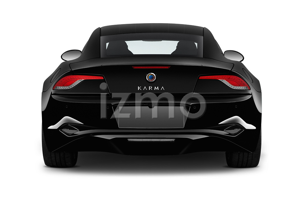Straight rear view of 2018 Karma Revero - 4 Door Sedan Rear View  stock images