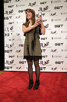 Serena Ryder, winner of the 2009 Juno for Adult Alternative album of the Year. poses on the media wall, Saturday March 28th, 2009, at the Westin Bayshore Hotel in Vancouver.  (Scott Alexander/pressphotointl.com)