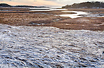 A winter sunset on Blackfish Creek in Wellfleet, Cape Cod, MA, USA