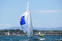 470 men / Mathew Belcher &amp; Will Ryan (AUS)<br /> ISAF Sailing World Cup Final - Melbourne<br /> St Kilda sailing precinct, Victoria<br /> Port Phillip Bay Wednesday 7 Dec 2016<br /> &copy; Sport the library / Jeff Crow