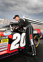 May 31, 2008; Dover, DE, USA; Nascar Nationwide Series driver Joey Logano prior to the Heluva Good 200 at the Dover International Speedway. Mandatory Credit: Mark J. Rebilas-US PRESSWIRE